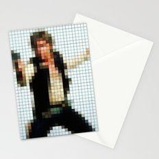 Han with Gun Pixels Texture Stationery Cards
