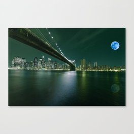 Brooklyn Bridge, New York, USA 2 Canvas Print