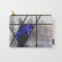 blue trapezoid Carry-All Pouch