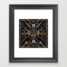 S&M Scarf Print Framed Art Print