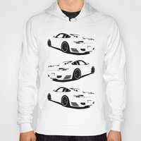 porsche Hoodies featuring Arctic Porsche by deadfish