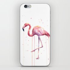 Flamingo Watercolor Tropical Birds Animal Painting iPhone & iPod Skin