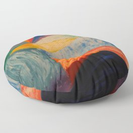 Abstract Untitled Creation by Robert S. Lee  Floor Pillow