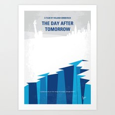 No651 My The Day After Tomorrow minimal movie poster Art Print