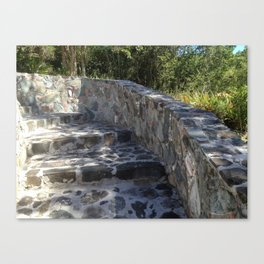 Stone, Stair walk way, West Indian Masonry Canvas Print