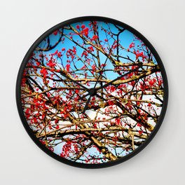 Sorbus aucuparia Wall Clock