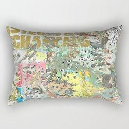Bird Grid Paste Up Rectangular Pillow