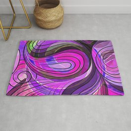 So Nothing Is Created Perfect - Charcoal Rose Water Rug