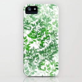 Inspirational Leafy Pattern iPhone Case