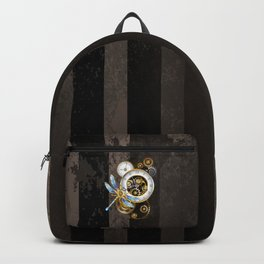 Dials with Dragonfly ( Steampunk ) Backpack