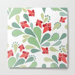 Flower pattern Retro Metal Print