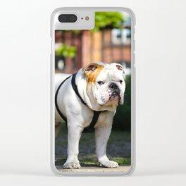 No Entry - Bulldog #decor #homedecor Clear iPhone Case