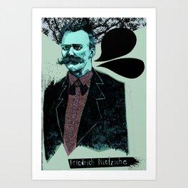 Friedrich Nietzsche: The Man, The Myth, the Moustache Art Print
