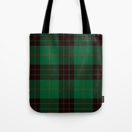 Dark Green Tartan with Black and Red Stripes Tote Bag