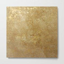 Gold Rush, Golden Shimmer Texture, Exotic Metallic Shine Graphic Design Metal Print