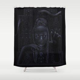 DARK TEMPLE - Du noir naît la lumière Shower Curtain