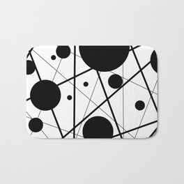 Abstract Lines and Dots Bath Mat