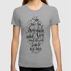 Heir of Ash and Fire SMALL Tri-Grey Womens Fitted Tee