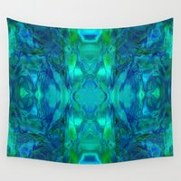 stained glass Wall Tapestries featuring Stained-glass.  by Assiyam