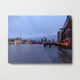Thames View near OXO Tower Metal Print