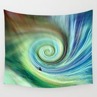 surf Wall Tapestries featuring Surf by  Agostino Lo Coco