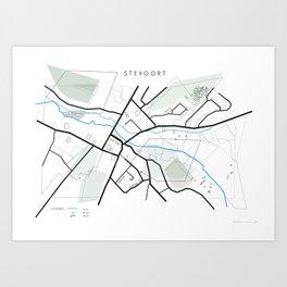 Map of Stevoort. Art Print