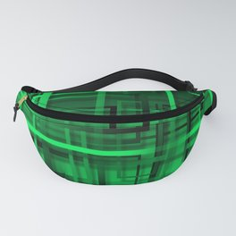 Black and green abstract Fanny Pack