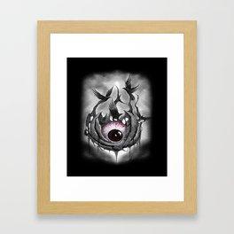 Mangekyou sharingan Framed Art Print