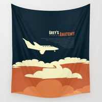 flight Wall Tapestries featuring Flight by Risa Rodil
