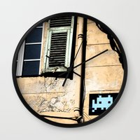 invader zim Wall Clocks featuring Invader by theGalary