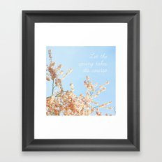 Let the spring takes its course Framed Art Print