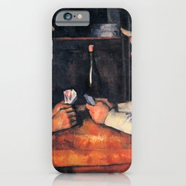 The Card Players Oil Painting Paul Cézanne iPhone Case