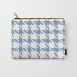 Tattersall Inspired - Blue/Grey Carry-All Pouch
