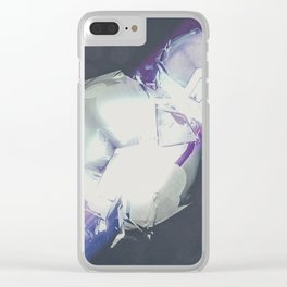 smashing snowman Clear iPhone Case
