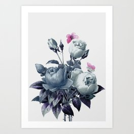 Roses and Butterflies Art Print