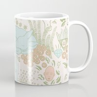 fawn Mugs featuring Fawn by Laura Solitrin