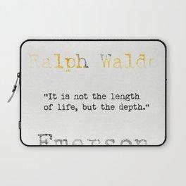 Ralph Waldo Emerson quote Laptop Sleeve