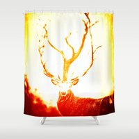 stag Shower Curtains featuring STAG by Chrisb Marquez