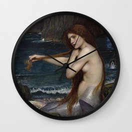 A MERMAID - WATERHOUSE Wall Clock
