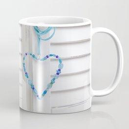 Blue Heart of beads Coffee Mug