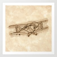 airplane Art Prints featuring Airplane by LaDa
