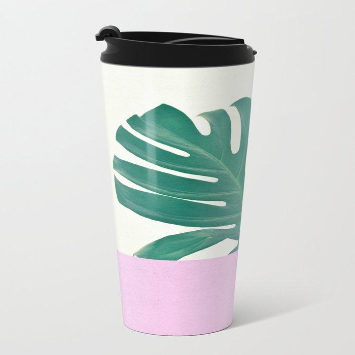 Monstera Dip Metal Travel Mug