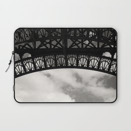 Black Lace of Eiffel Tower Laptop Sleeve