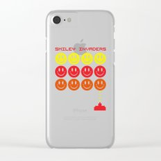 Smile Invaders Gaming Quote Clear iPhone Case