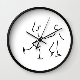 figure skating ice-skate Olympia Wall Clock