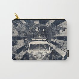 vintage voyager world map Carry-All Pouch