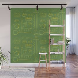 Gardening and Farming! - illustration pattern Wall Mural