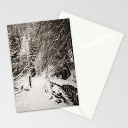 Dans la neige Stationery Cards