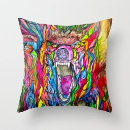 Guardian of Owl Farm Throw Pillow