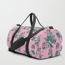 Hawaii Hula with The Pug Duffle Bag